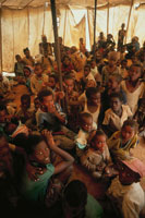 難民キャンンプの子供達、ソマリア