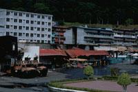 破壊された市街地、パナマ