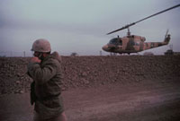 兵士とヘリコプター イランイラク戦争 1986年