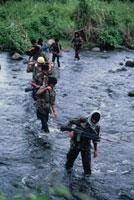 モロ解放戦線の兵士達 ミンダナオ フィリピン 1986年