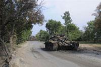 破壊された戦車