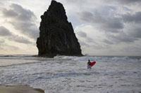 奇岩とサーファー 02265038027| 写真素材・ストックフォト・画像・イラスト素材|アマナイメージズ