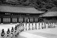 通度寺 修行へ向かう僧侶たち