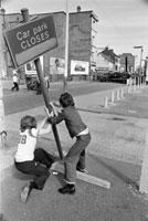 GB. Northern Ireland. Belfast. The Queen's Jubilee riots.