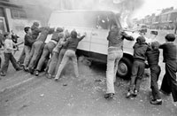 NORTHERN IRELAND. Riots in Belfast. 1979.