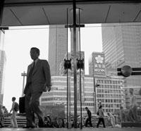 JAPAN. Tokyo. Entrance to Shijuku subway station. 1997. 02265039365| 写真素材・ストックフォト・画像・イラスト素材|アマナイメージズ