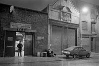A garage on Narrow Street.