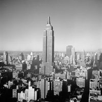 U.S.A. New York City. The Empire State Building. 1950.