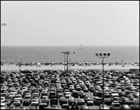 サンタモニカビーチの駐車場