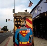 スーパーマンの看板