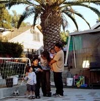 五人の家族風景