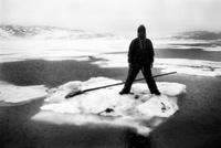 氷上の漁師