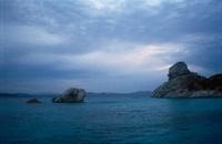 サルディーニャ島と海