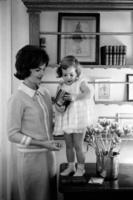 ジャクリーン・ケネディと娘のキャロライン