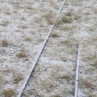 雪の積もった線路