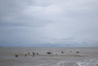 海水浴をする人々