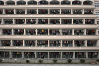 "CHINA. Zhejiang province. Wenzhou. Yongjia area. Dormitories for Mingong workers of ""Aokang"" shoe factory. 2007. 02265045340