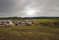 USA. Cannon Ball, North Dakota. September, 2016. Sioux protest camp. 02265047356| 写真素材・ストックフォト・画像・イラスト素材|アマナイメージズ