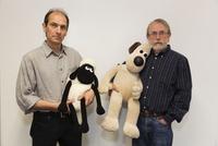 GB. England. Bristol. Aardman Animations. David Sproxton on left and Peter Lord founding Partners of Aardman Animations. Open fo 02265047479| 写真素材・ストックフォト・画像・イラスト素材|アマナイメージズ