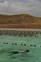 INNER MONGOLIA. July, 2013. Tourist relaxing at a resort. 02265047626  写真素材・ストックフォト・画像・イラスト素材 アマナイメージズ