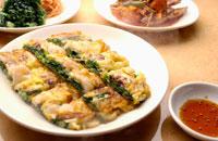 韓国料理のニラのチヂミ