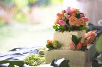 花のデコレーションのウエディングケーキ 02266007299| 写真素材・ストックフォト・画像・イラスト素材|アマナイメージズ