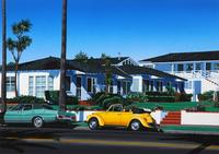 カリフォルニア—家と車のある風景