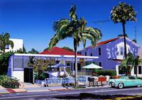 サンディエゴテラス—路面にカフェのある風景 02290000153| 写真素材・ストックフォト・画像・イラスト素材|アマナイメージズ