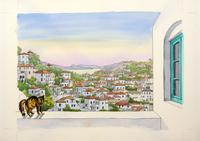 ギリシャと猫 02290000178| 写真素材・ストックフォト・画像・イラスト素材|アマナイメージズ