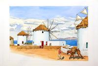 ギリシャ風車 02290000180| 写真素材・ストックフォト・画像・イラスト素材|アマナイメージズ