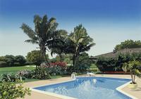 爽やかな風の吹くリゾート地のプール 02290000211| 写真素材・ストックフォト・画像・イラスト素材|アマナイメージズ