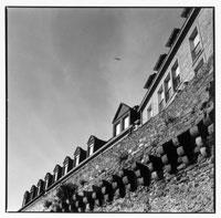 城壁の風景 B/W サンマロ フランス