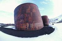夏の南極のプログレス�U基地 ロシア