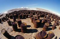 夏のプログレス�U基地のごみのタンク 南極 ロシア