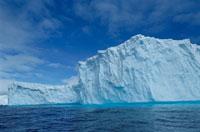 夏の流氷と氷山 南極