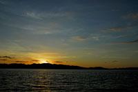 コモド島の夕景