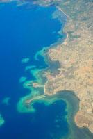 コモド島の空撮