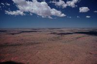 アウトバックの砂漠の空撮