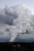 火山から昇る煙