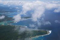 エファテ島の空撮