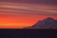 キングジョージ島の夕日