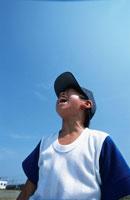 叫ぶ野球少年 日本人