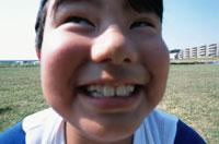日本人の野球少年 アップ