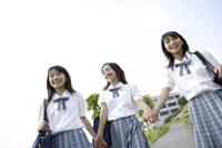 下校途中の中学生