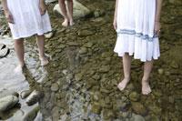 川辺にいる中学生 02299004358| 写真素材・ストックフォト・画像・イラスト素材|アマナイメージズ