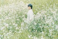 花畑の中の少年
