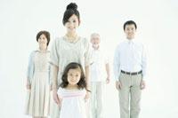 家族5人のポートレイト