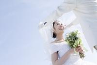 青空の下の花嫁
