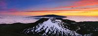 View of Mauna Loa from summit of Mauna Kea Pano