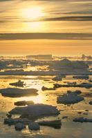 Icebergs at sunrise, Antarctic Sound, Antarctica
